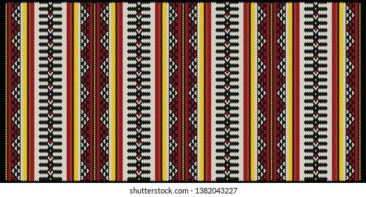 Royal Traditional Arabian Style Sadu Weaving Illustrated Pattern