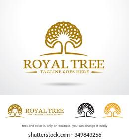 Royal Tree Logo Template Design Vector