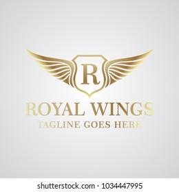 Royal Wing Logo Vector