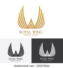 Royal Wing  logo Vector Template