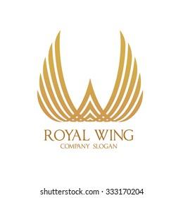 Royal Wing, Wing logo,royal logo,Vector Logo Template