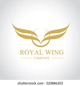 Royal Wing,eagle Logo,Vector Logo template
