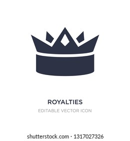 royalties icon on white background. Simple element illustration from Shapes concept. royalties icon symbol design.