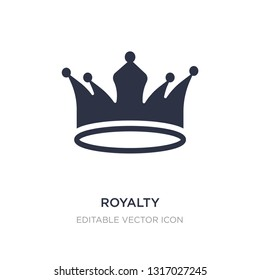 royalty icon on white background. Simple element illustration from Shapes concept. royalty icon symbol design.