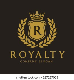 Royalty, Luxury Logo Template for Hotel and Fashion brand identity