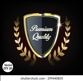 Royalty Premium Quality Logo. Vector Illustration.