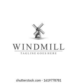 Royalty-free Windmill logo design template