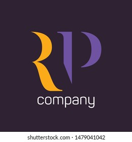 RP company logo design. Monogram letters R and P.