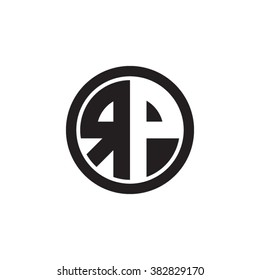 RP initial letters circle monogram logo