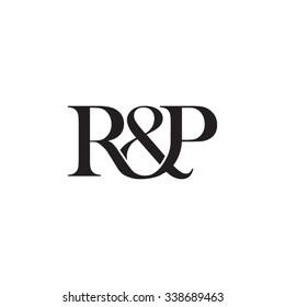 R&P Initial logo. Ampersand monogram logo