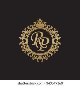 RP initial luxury ornament monogram logo