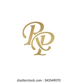RP initial monogram logo