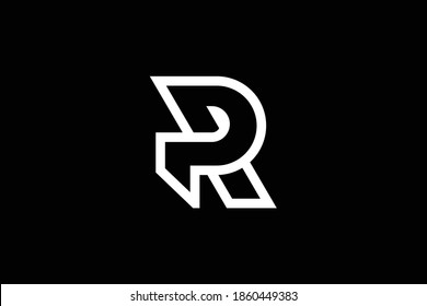 RP letter logo design on luxury background. PR monogram initials letter logo concept. RP icon design. PR elegant and Professional white color letter icon design on black background. R P