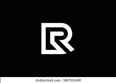 RP letter logo design on luxury background. PR monogram initials letter logo concept. RP icon design. PR elegant and Professional white color letter icon on black background.
