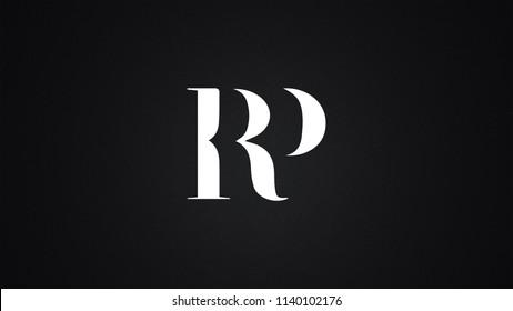 RP Letter Logo Design Template Vector
