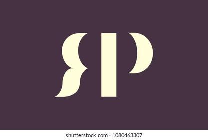 RP PR letter initial Logo Design Template