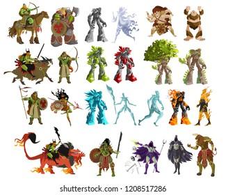 rpg videogame characters enemies