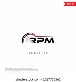 RPM Logo icon monogram design. Vector graphic design template element.