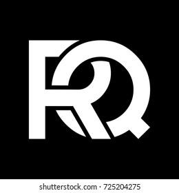 RQ initial letter logo design template vector