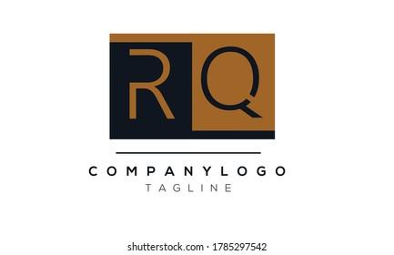 RQ initials monogram letter text alphabet logo design