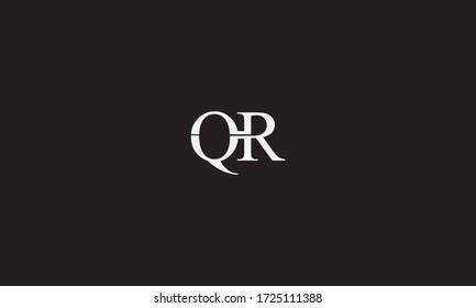 RQ or QR letter logo. Unique attractive creative modern initial RQ QR R Q initial based letter icon logo