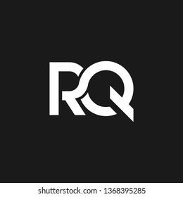 RQ or R Q letter alphabet logo design in vector format.