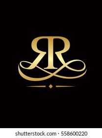 RR elegant initials