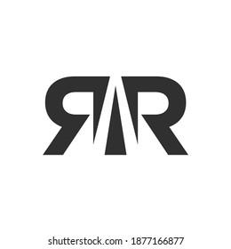RR icon logo , letter R logotype