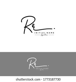 RR Initial letter handwriting and signature logo.