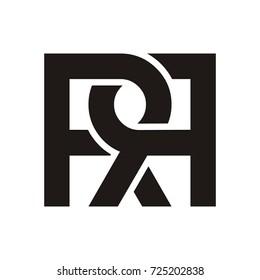 RR initial letter logo design template vector
