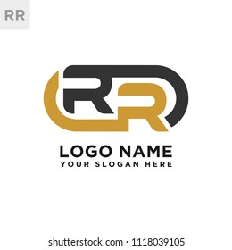 RR initial logo template vexctor