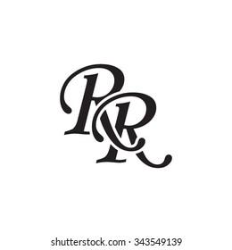 RR initial monogram logo