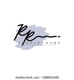 RR initial signature logo. handwriting logo template vector,