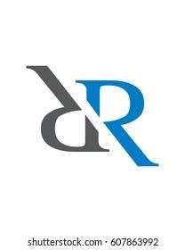 RR Initials Logo, Alphabet Logo