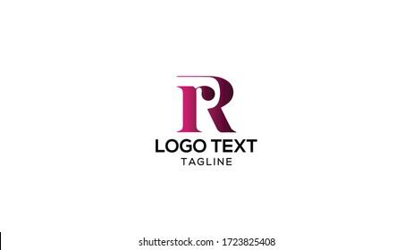 RR Letter Logo Design Template Vector