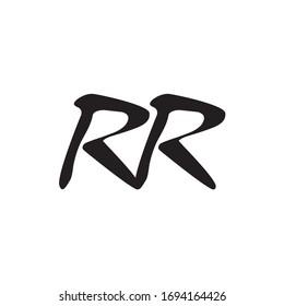 RR letter logo design vector