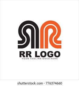 RR letter logo design vector template