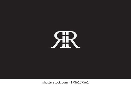 RR or RR letter logo. Unique attractive creative modern initial RR RR R R initial based letter icon logo