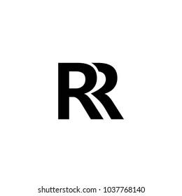 rr letter vector logo design