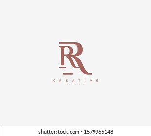 RR Linked Simple Monogram Logotype