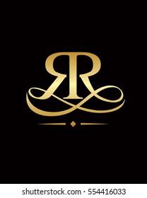 RR logo elegant, RR Luxury Logo