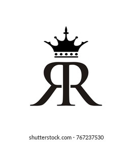 rr logo, r logo initial letter design template designed based vector format
