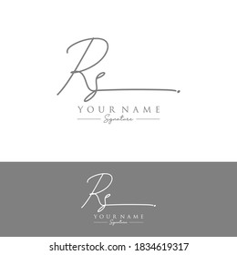 RS Initial letter handwriting and signature logo.