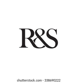 R&S Initial logo. Ampersand monogram logo