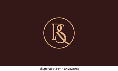 RS letter alphabet abstract logo vector