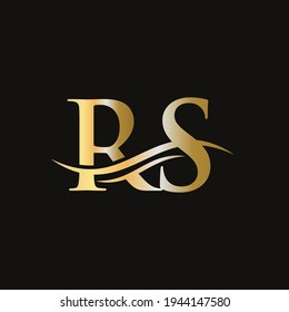 RS Letter Linked Logo for business and company identity. Initial Letter RS Logo Vector Template
