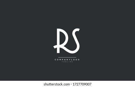RS Letter Logo Alphabet Design Icon Vector Symbol