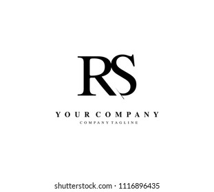 RS Letter Logo with creative Cut Style