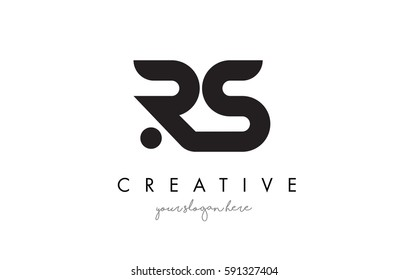 RS Letter Logo Design with Creative Modern Trendy Typography and Black Colors.