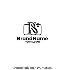 RS Photography Logo Design Vector